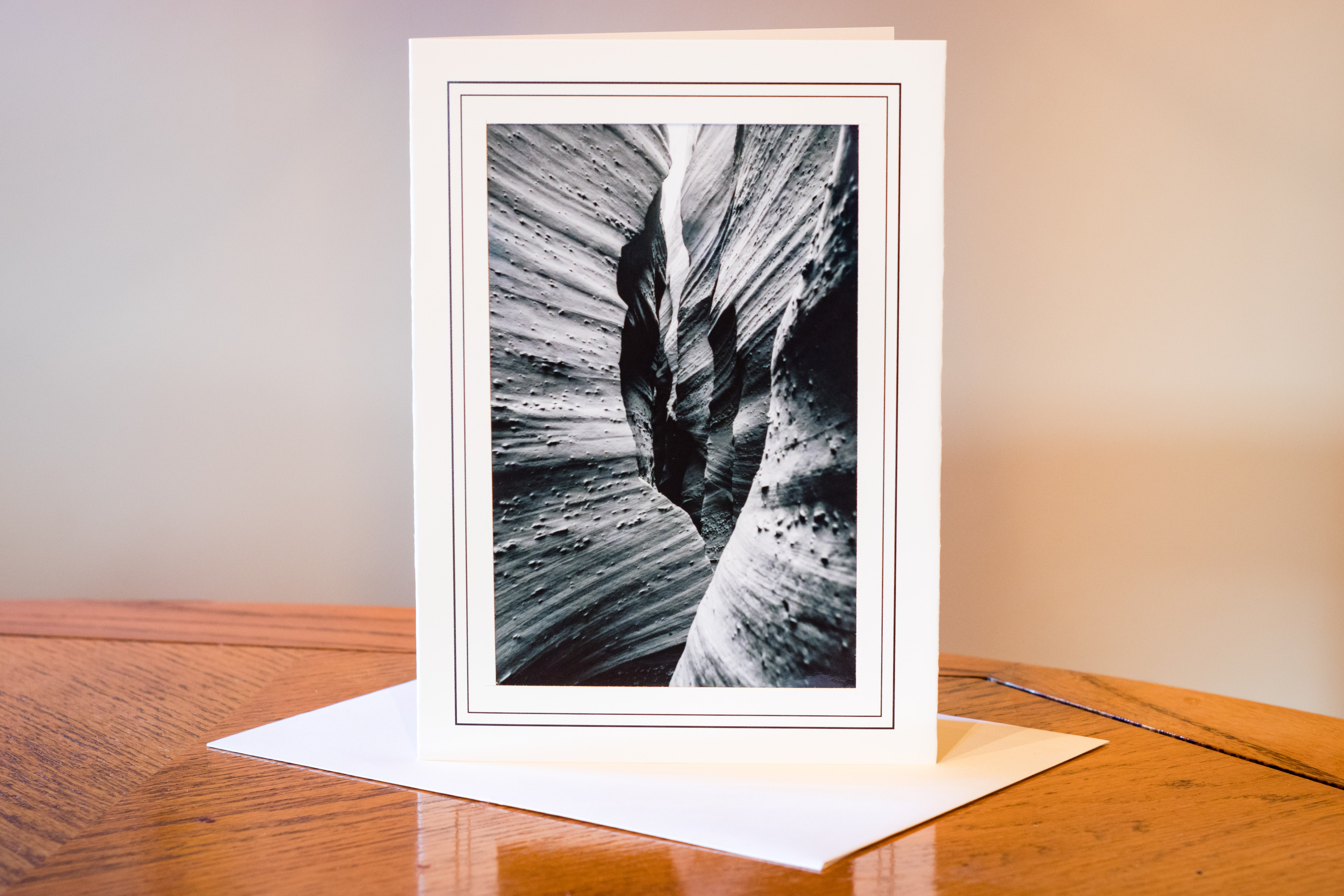 Slot Canyon Card Photograph